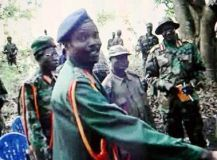 Joseph Kony and his men in the Bush