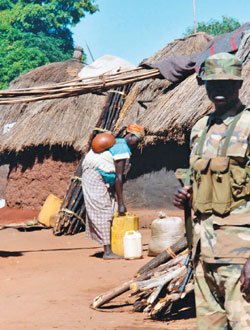 UPDF at Labuje IDP camp c. 2002